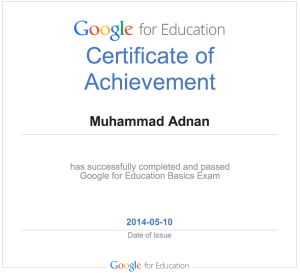 Google For Education Certificate